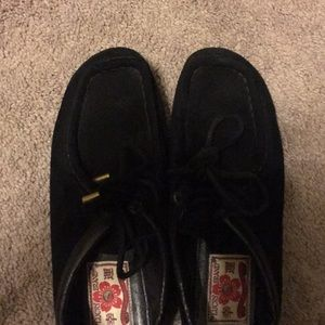 Lucky Brand Shoes - Lucky Brand Black Suede Loafers Size 7 1/2 $22